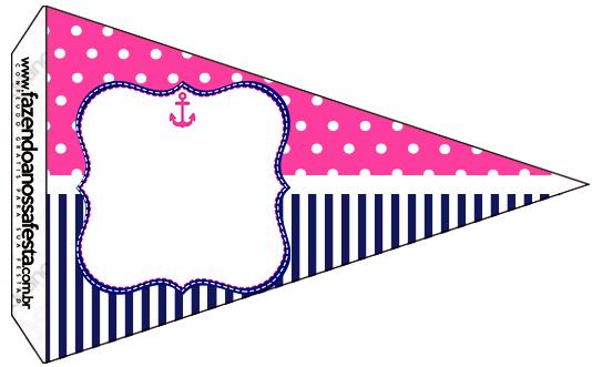 Bandeirinha Sanduiche 5 Menina Marinheira Loira