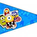 Bandeirinha Sanduiche 5 Minions Super-Heróis