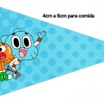 Bandeirinha Sanduiche 5 o Incrível Mundo de Gumball
