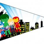 Bandeirinha Sanduiche 6 Kit Festa Vingadores Cute