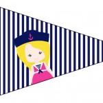 Bandeirinha Sanduiche 6 Menina Marinheira Loira