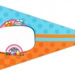Bandeirinha Sanduiche 6 o Incrível Mundo de Gumball