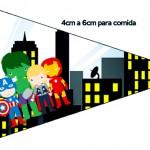 Bandeirinha Sanduiche 7 Kit Festa Vingadores Cute