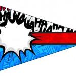 Bandeirinha Sanduiche 7 Minions Super-Heróis