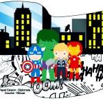 Bandeirinha Varalzinho 2 Kit Festa Vingadores Cute