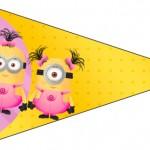 Bandeirinha Varalzinho 4 Minions para Meninas