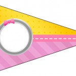 Bandeirinha Varalzinho 5 Minions para Meninas