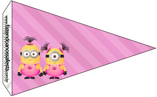 Bandeirinha Varalzinho 7 Minions para Meninas