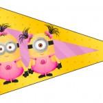 Bandeirinha Varalzinho Minions para Meninas 2