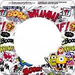 Bandeirinha Varalzinho Quadrada Minions Super-Heróis