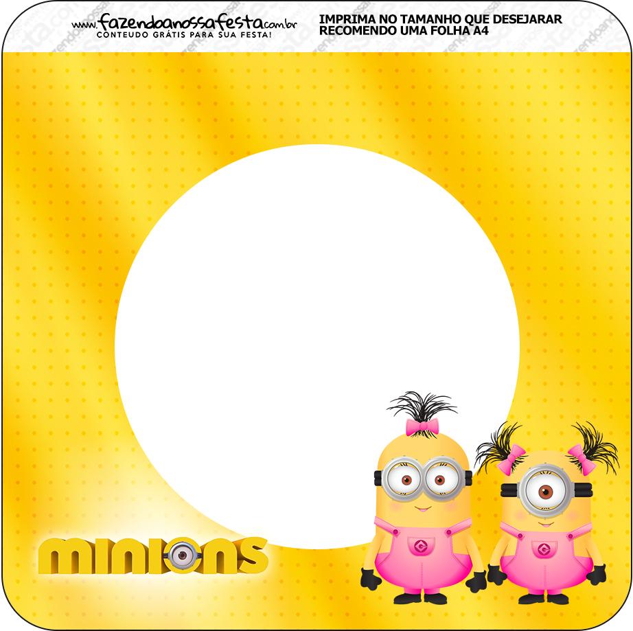 Bandeirinha Varalzinho Quadrada Minions para Meninas