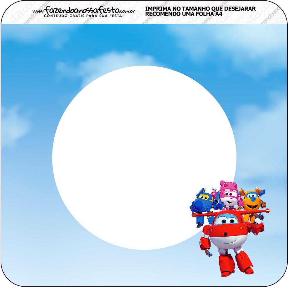 Bandeirinha Varalzinho Quadrada Super Wings