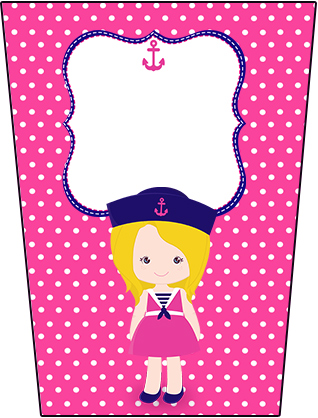 Bisnaga Flip Top Menina Marinheira Loira