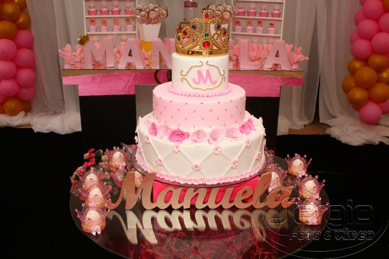 Bolo Festa Princesa Manuela