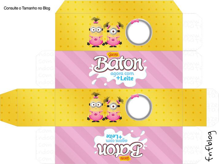 Caixa Batom Minions para Meninas