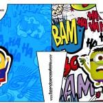 Caixa Camisa Minions Super-Heróis