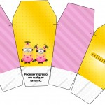 Caixa China in Box Minions para Meninas