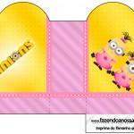 Caixa Coração Minions para Meninas
