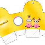 Caixa Cupcake Minions para Meninas