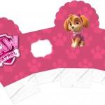 Caixa Cupcake Patrulha Canina para Meninas