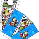 Caixa Fatia Minions Super-Heróis