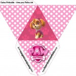 Caixa Pirâmide 2 Patrulha Canina para Meninas