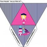 Caixa Pirâmide Menina Marinheira Loira