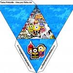 Caixa Pirâmide Minions Super-Heróis