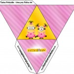 Caixa Pirâmide Minions para Meninas