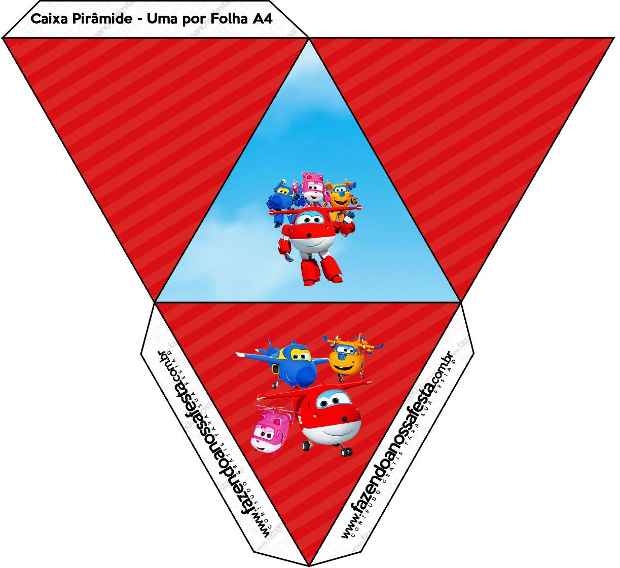 Caixa Pirâmide Super Wings