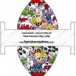 Caixa Vestido Minions Super-Heróis