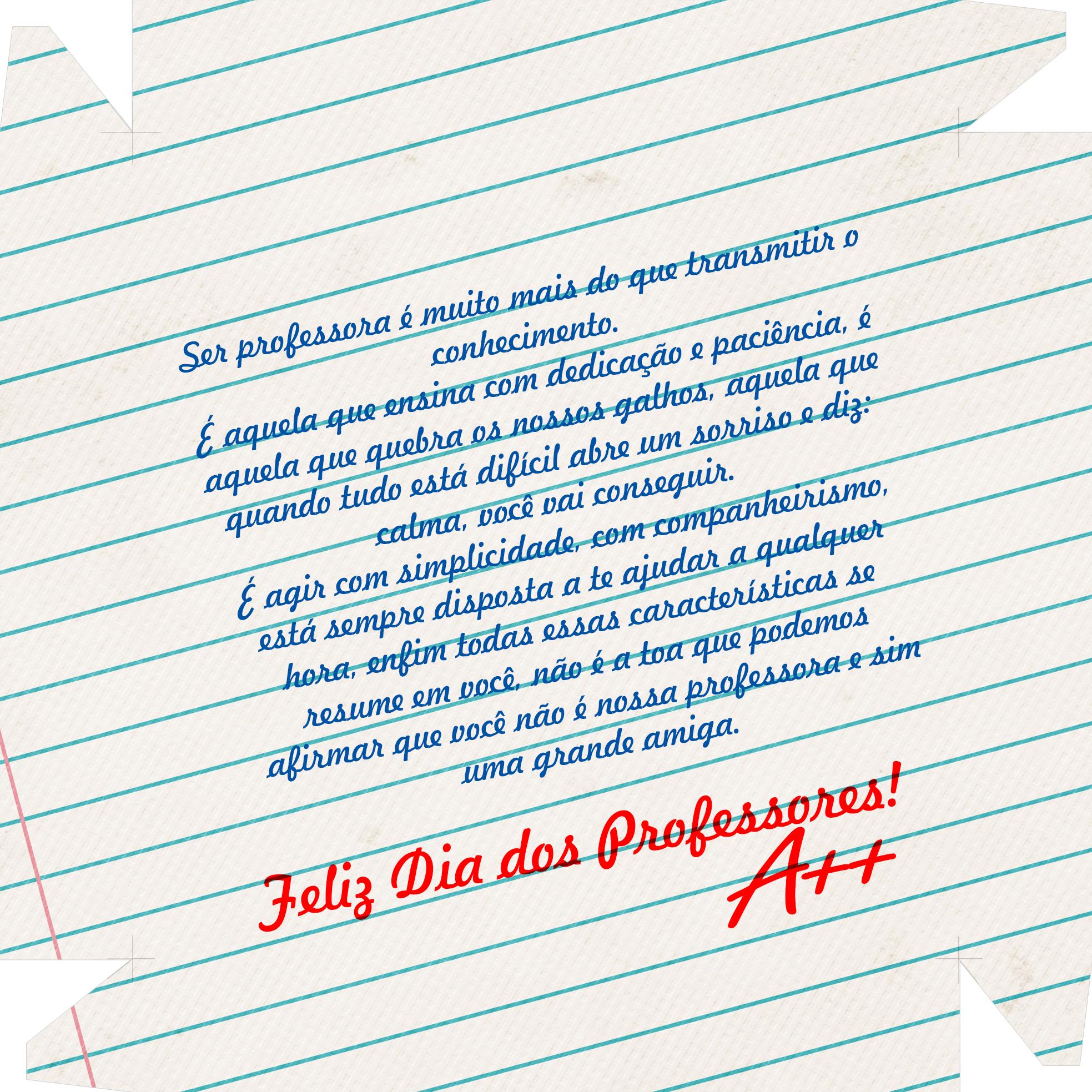 Caixa de Bombom Dia dos Professores Caderno e Mensagem 1