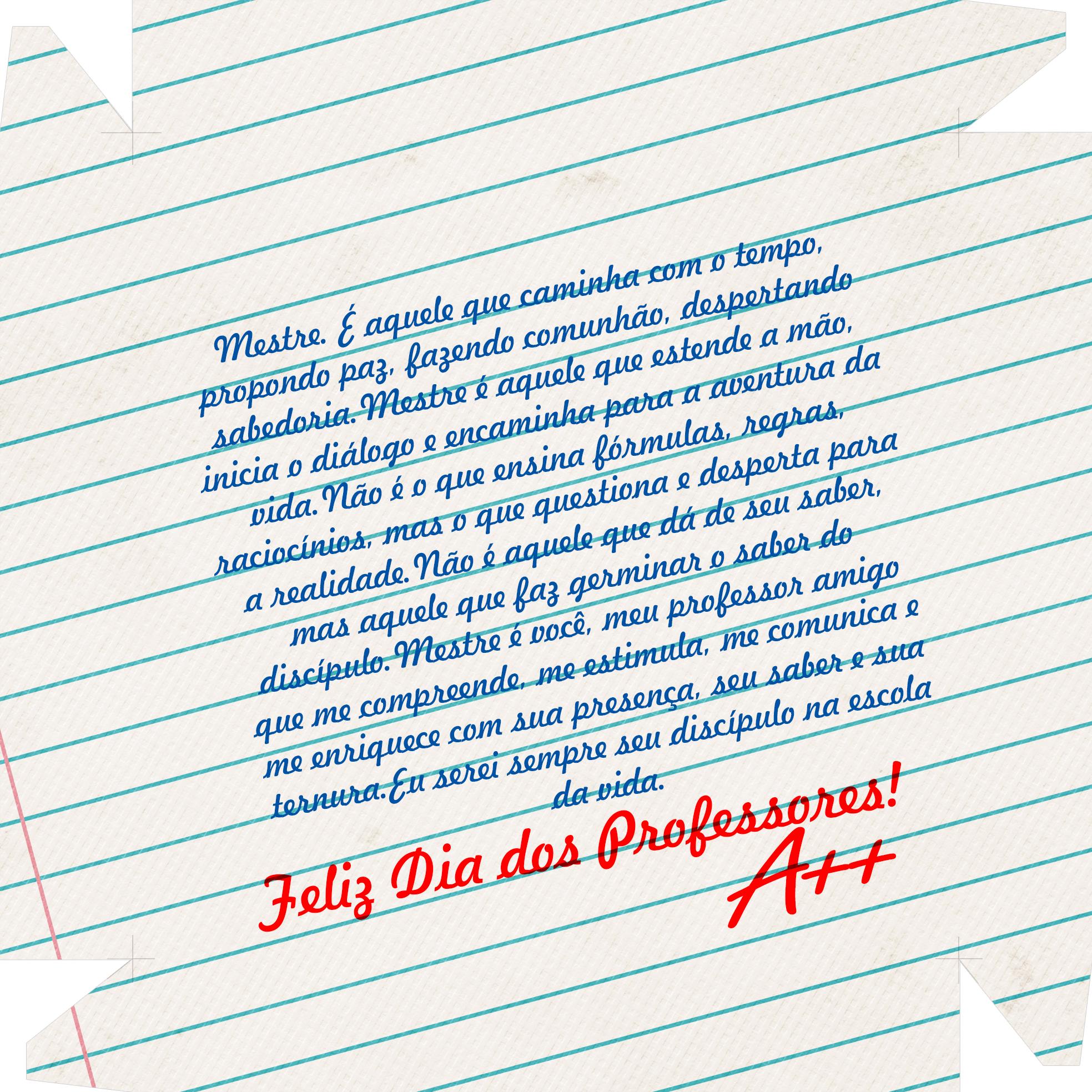 Caixa de Bombom Dia dos Professores Caderno e Mensagem 4