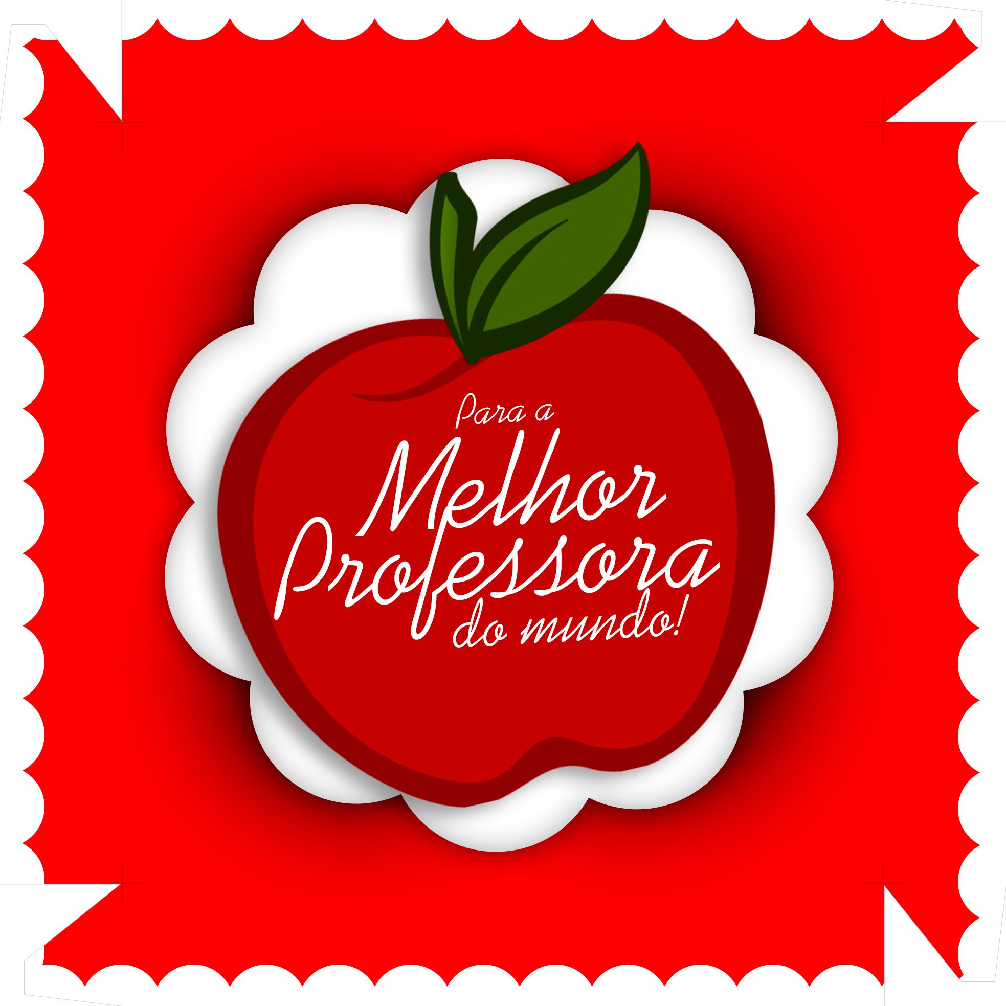 Caixa de Bombom Dia dos Professores Maça