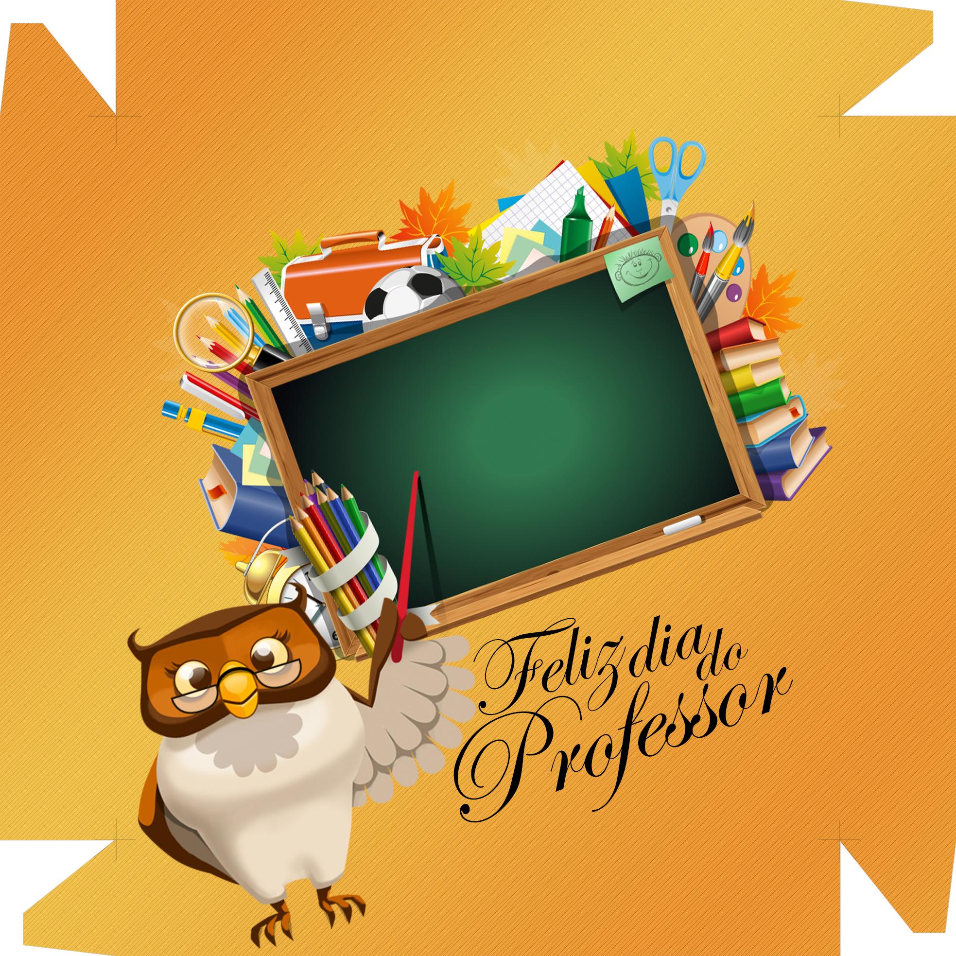 Caixa de Bombom Dia dos Professores Melhor Professor Coruja Maça Mensagens Laranja
