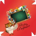 Caixa de Bombom Dia dos Professores Melhor Professor Coruja Maça Mensagens Vermelho