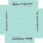 Caixa de Bombom Dia dos Professores Melhor Professora Coruja Azul - Fundo
