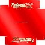 Caixa de Bombom Dia dos Professores Talento Vermelho - Fundo