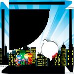 Caixa de Bombom Kit Festa Vingadores Cute - Parte de cima