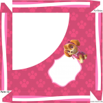 Caixa de Bombom Patrulha Canina para Meninas - Parte de cima