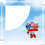 Caixa de Bombom Super Wings - Parte de cima