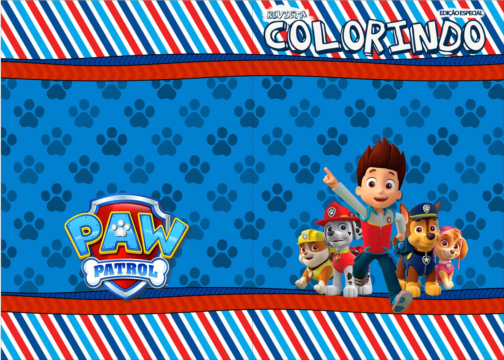Capa Livrinho para Colorir do Patrulha Canina