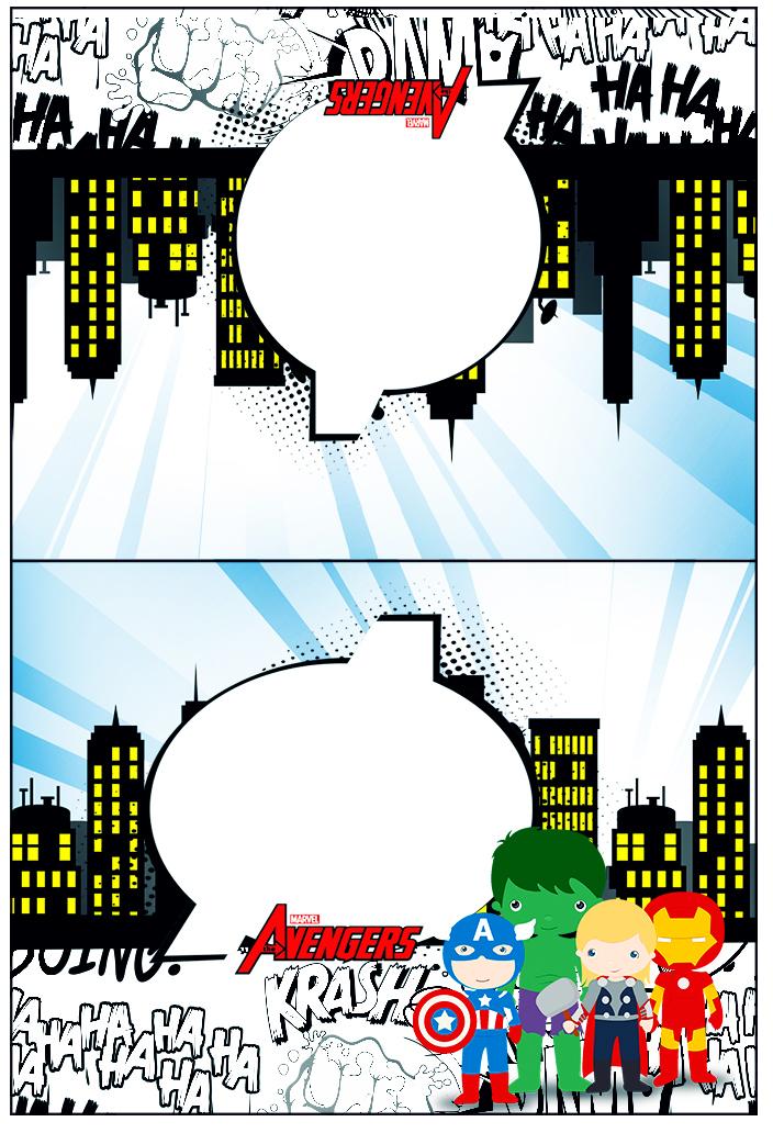 Cartão Agradecimento de Mesa Kit Festa Vingadores Cute  Fazendo a