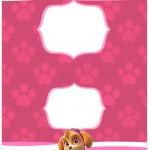 Cartão Agradecimento de Mesa Patrulha Canina para Meninas