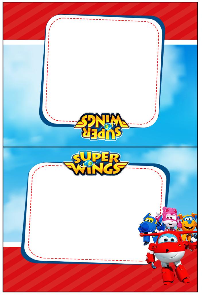 Cartão Agradecimento de Mesa Super Wings