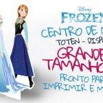 Centro de Mesa Frozen – Grátis para Imprimir