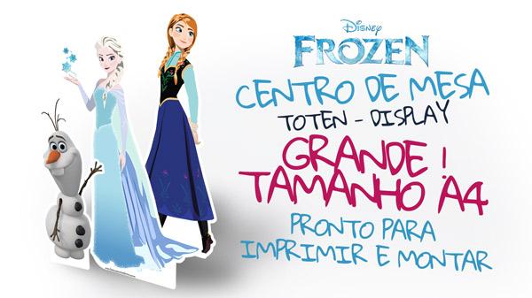 Centro de mesa Frozen - Grátis para Imprimir