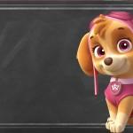 Chalkboard Patrulha Canina para Meninas
