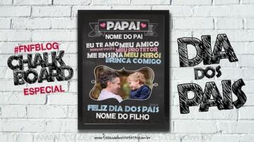 Chalkboard para Dia dos Pais - Blog Fazendo a Nossa Festa