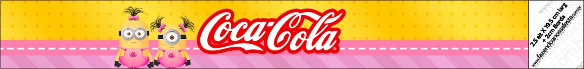 Coca-cola Minions para Meninas